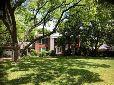 Dallas Single Family Home For Sale: 6035 Desco Drive
