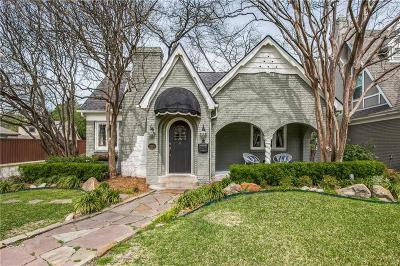 Dallas Single Family Home For Sale: 5203 Monticello Avenue