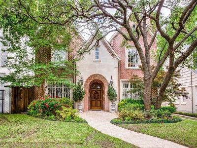 Dallas County Single Family Home For Sale: 3909 Bryn Mawr Drive