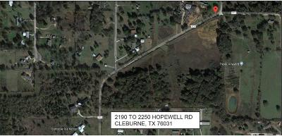 Cleburne Residential Lots & Land For Sale: 2250 Hopewell Road