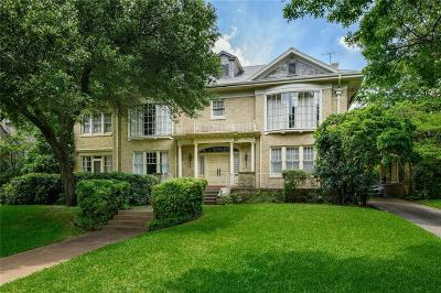 Highland Park Single Family Home For Sale: 4211 Lakeside Drive