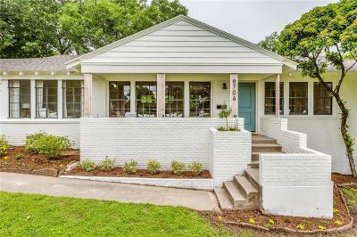 Fort Worth Single Family Home Active Option Contract: 6704 Kirkwood Road