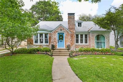 Dallas Single Family Home For Sale: 6415 Lakewood Boulevard