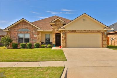 Abilene Single Family Home For Sale: 642 Swift Water Drive