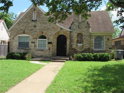 Dallas Single Family Home For Sale: 2646 Catherine Street