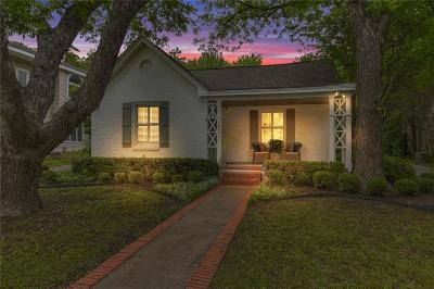 Fort Worth Single Family Home Active Option Contract: 2521 Stadium Drive