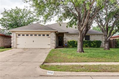 Saginaw Single Family Home Active Option Contract: 508 Whitney Drive