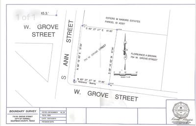 Terrell Residential Lots & Land For Sale: 710 W Grove Street