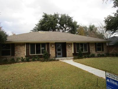 Richardson Single Family Home For Sale: 302 Woodcrest Drive