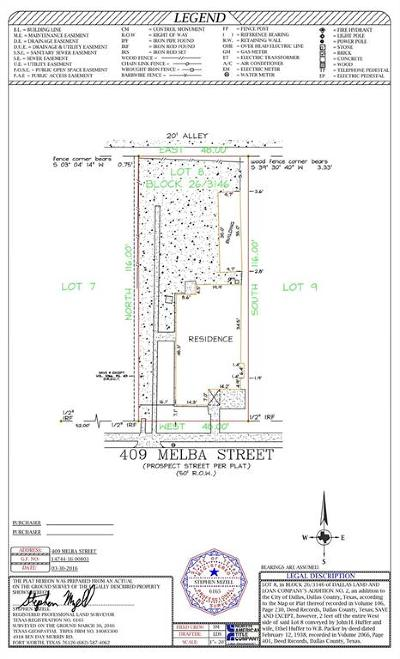 Commercial Lots & Land For Sale: 409 Melba Street