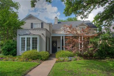 Fort Worth Single Family Home Active Kick Out: 6228 Locke Avenue