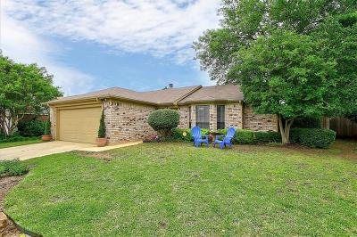 Grapevine Single Family Home Active Option Contract: 536 Yellowstone Drive
