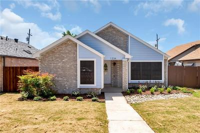 Lewisville Single Family Home Active Option Contract: 1334 Cedar Ridge Drive