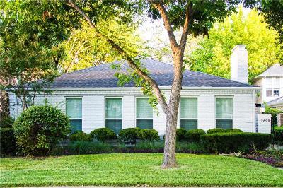 University Park, Highland Park Single Family Home For Sale: 2809 Daniel Avenue