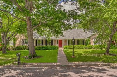 Dallas Single Family Home For Sale: 7151 Kendallwood Drive