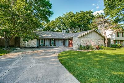 Richardson Single Family Home Active Contingent: 2222 Shady Creek