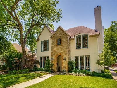 University Park TX Single Family Home For Sale: $1,399,000
