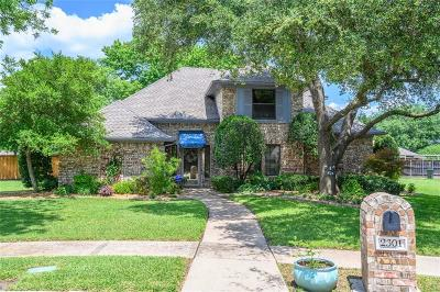 Plano Single Family Home Active Option Contract: 2301 Belmont Place