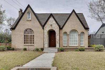 Dallas Single Family Home For Sale: 5103 Alcott Street
