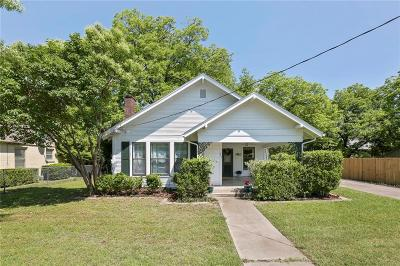 Waxahachie Single Family Home Active Option Contract: 406 Brown Street
