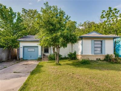 Denton Single Family Home Active Option Contract: 1004 Cordell Street