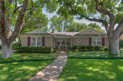 Fort Worth Single Family Home For Sale: 3716 Somerset Lane