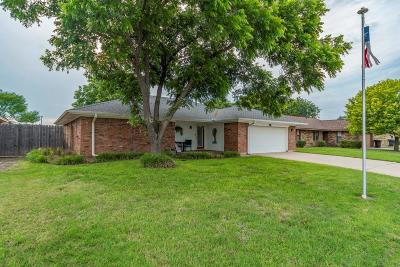Abilene Single Family Home Active Option Contract: 4450 Bruce Drive