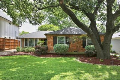 Dallas Single Family Home For Sale: 9840 Gooding Drive