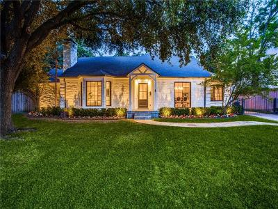 Dallas County Single Family Home Active Option Contract: 5644 Caruth Boulevard