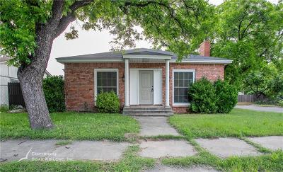 Abilene Single Family Home For Sale: 1181 Meander Street