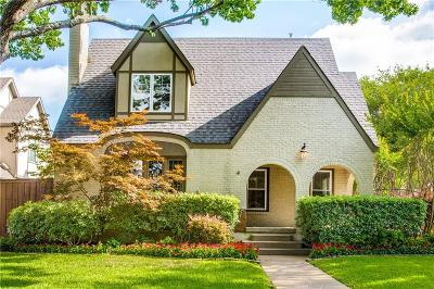 Dallas County Single Family Home Active Option Contract: 5227 Morningside Avenue