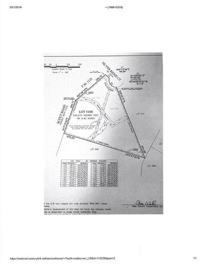 Montague County Residential Lots & Land For Sale: Lt 510r Silver Ridge Court