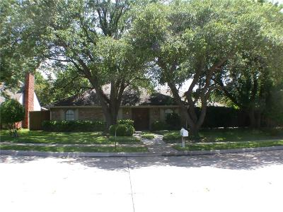 Plano Single Family Home Active Option Contract: 3804 Matterhorn Drive