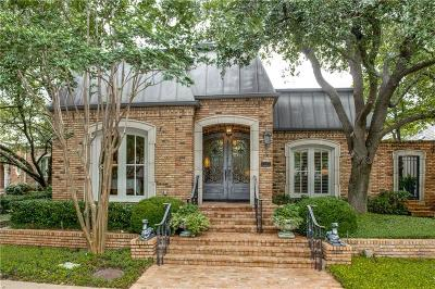 Dallas Single Family Home For Sale: 7715 Caruth Boulevard