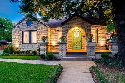 Dallas County, Denton County, Collin County, Cooke County, Grayson County, Jack County, Johnson County, Palo Pinto County, Parker County, Tarrant County, Wise County Single Family Home For Sale: 301 N Waverly Drive