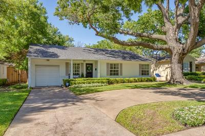 Dallas Single Family Home For Sale: 5523 Druid Lane