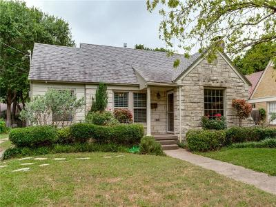 Dallas TX Single Family Home Active Contingent: $315,000