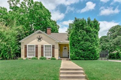 Dallas County, Denton County, Collin County, Cooke County, Grayson County, Jack County, Johnson County, Palo Pinto County, Parker County, Tarrant County, Wise County Single Family Home For Sale: 3613 Clary Avenue