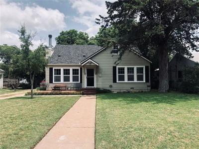 Abilene Single Family Home Active Option Contract: 1165 Ross Avenue