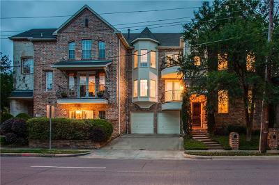 Dallas Townhouse For Sale: 3722 Wycliff