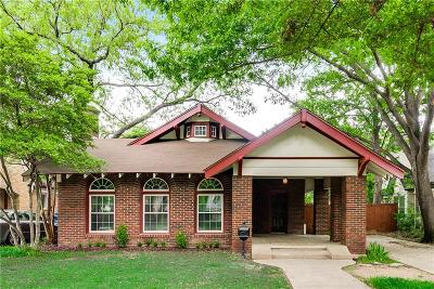 Dallas Single Family Home For Sale: 726 Ridgeway Street