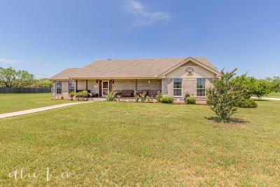 Abilene Single Family Home Active Option Contract: 3141 Fm 1750