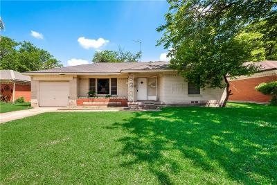 Dallas Single Family Home For Sale: 7811 Tillman Street