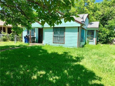 Dallas TX Single Family Home For Sale: $70,000