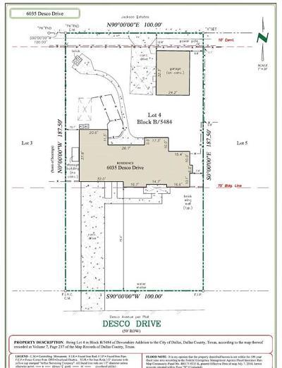 Dallas Residential Lots & Land For Sale: 6035 Desco Drive Drive