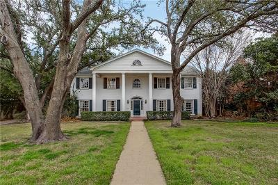 Fort Worth Single Family Home For Sale: 813 Hillcrest Street