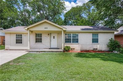 Irving Single Family Home Active Option Contract: 1237 Arrowhead Drive