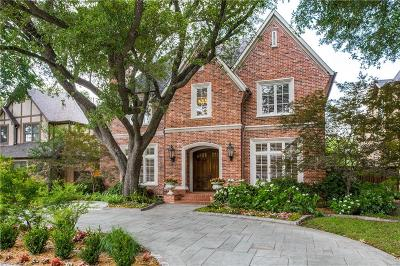 University Park Single Family Home For Sale: 4332 Bryn Mawr Drive
