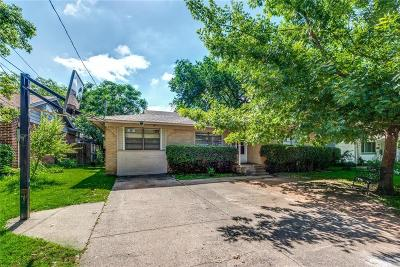 Irving Single Family Home Active Option Contract: 1706 Robinson Street