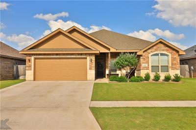 Abilene Single Family Home Active Option Contract: 4909 Big Bend Trail